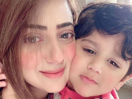 Sana with her son Abdullah