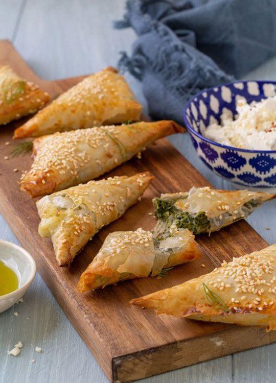 Spinach borekas - a typically Sephardi / Mediterranean food