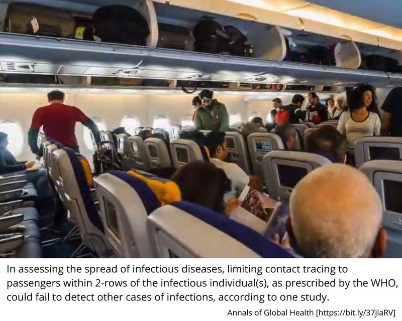 airline seating rows infectious disease 0001