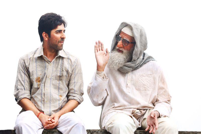 Ayushmann Khurrana and Amitabh Bachchan