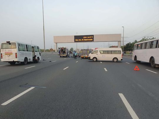 NAT Accident on al Khail road-1591789376082