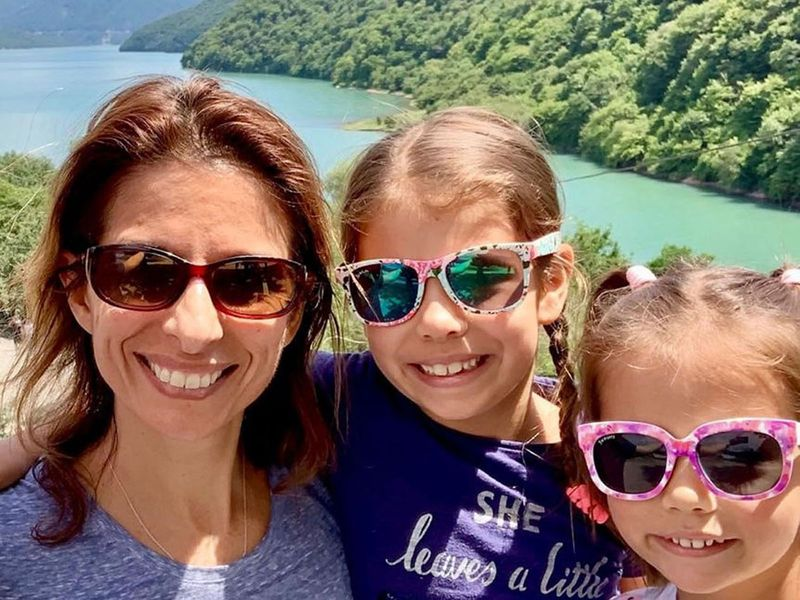 Natalie Hobbs with daughters Amelia and Olivia