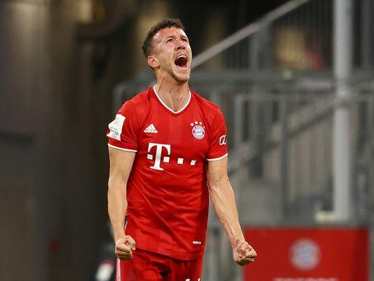 Bayern Munich's Ivan Perisic celebrates