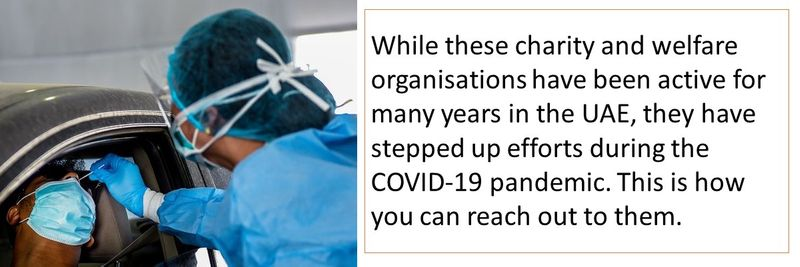 Welfare organisations for COVID-19