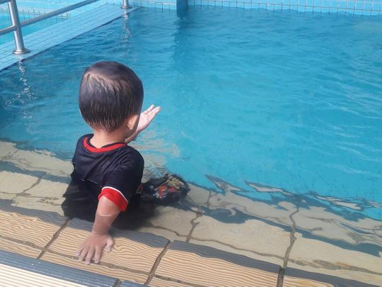 Children should never be allowed near pools on their own