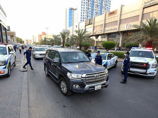 Kuwait police Hawally district