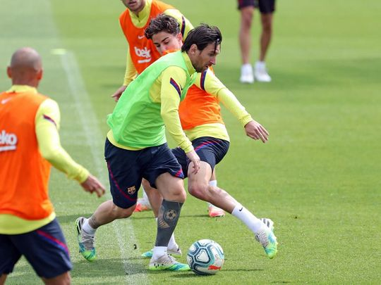 Lionel Messi is ready to start against Mallorca.