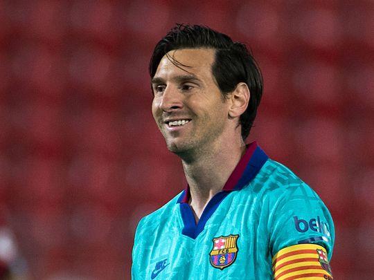 Barcelona's Lionel Messi scored in the win over Mallorca