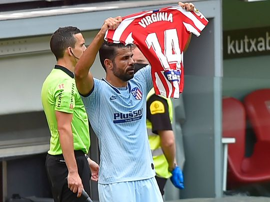Diego Costa's tribute after scoring