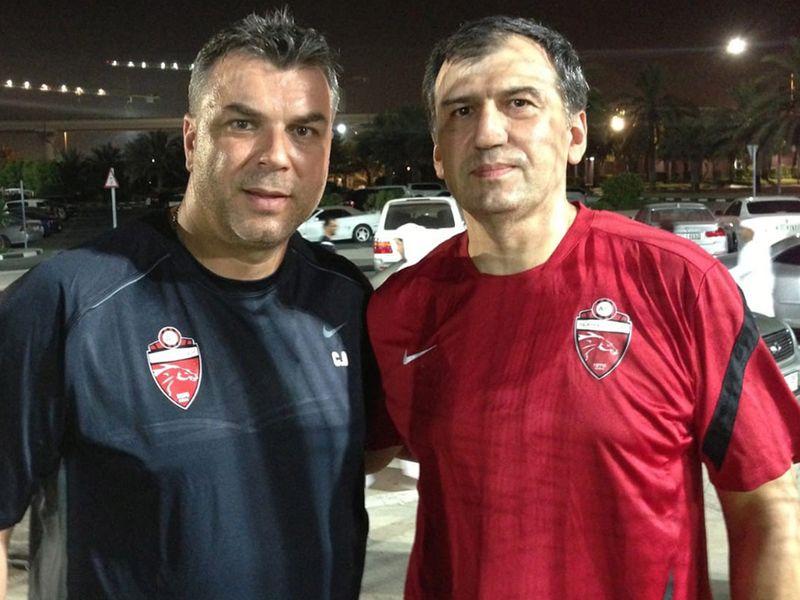 Faiq Huseynov with former Al Ahli coach Cosmin Olaroiu