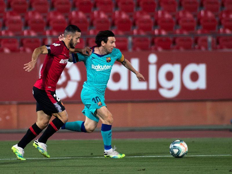 Lionel Messi Barcelona v Mallorca La Liga