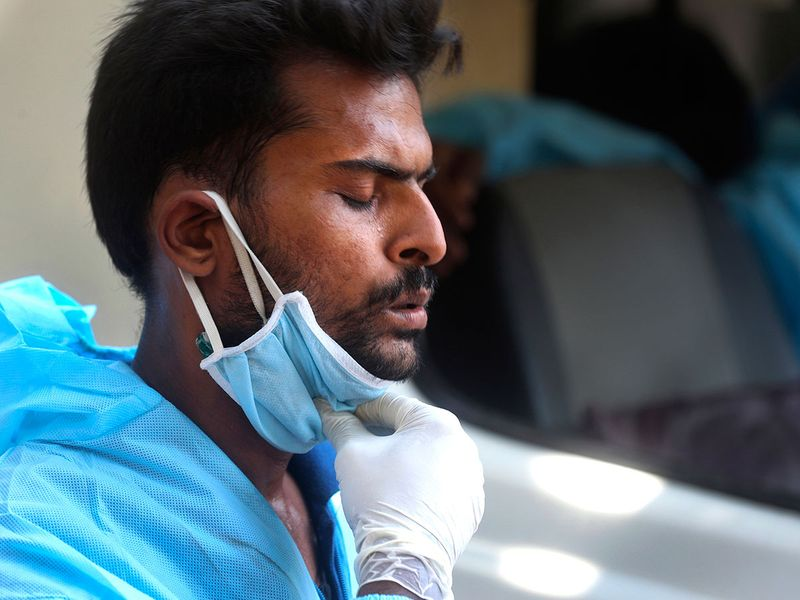 Ambulance driver in India rushes to save lives