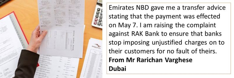 Complaint - RAK Bank Mr Varghes