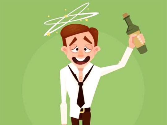 Drunkard, alcoholic man
