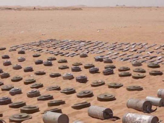 Houthi planted mines in Yemen