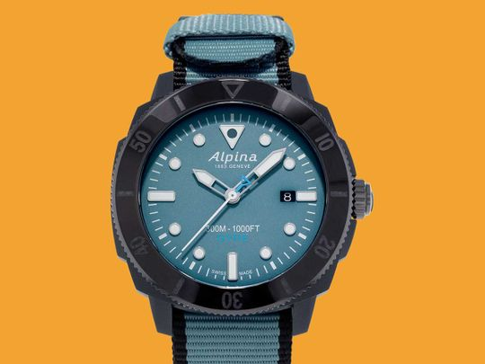 This watch's case is made from recycled ocean plastic