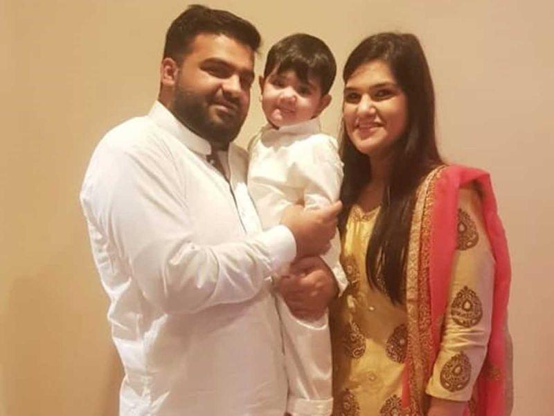 Sanjana with husband