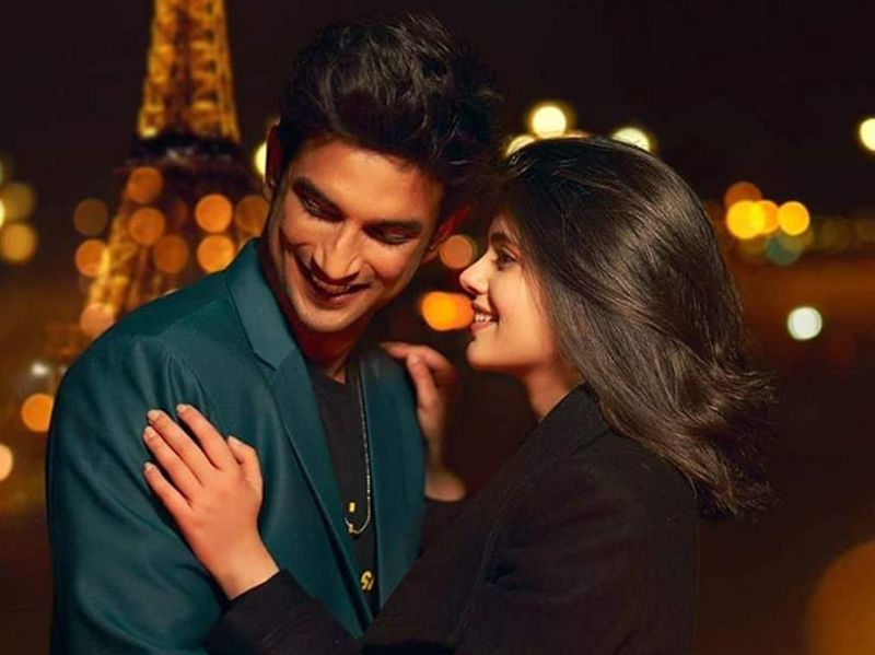 Sushant Singh Rajput and Sanjana Sanghi in Dil Bechara (2020)-1592210164994
