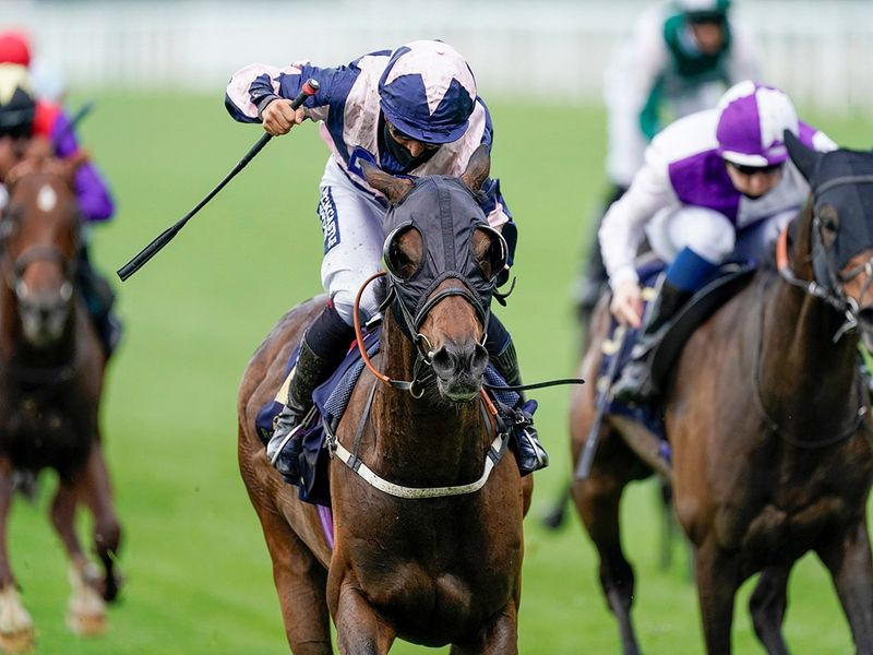 Horse Racing - Royal Ascot - Ascot Racecourse, Ascot, Britain - June 16, 2020 Coeur De Lion ridden by Thore Hammer Hansen wins the Ascot Stakes, as racing resumes behind closed doors after the outbreak of the coronavirus disease (COVID-19) Alan Crowhurst/Pool via Reuters