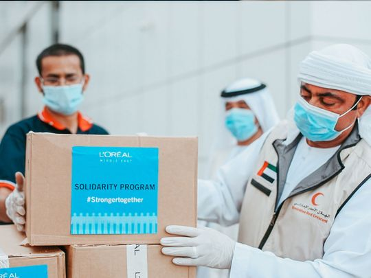 L'Oreal tie up with Emirates Red Crescent to deliver 84,000 care products worth Dh4 million to frontline medics and workers