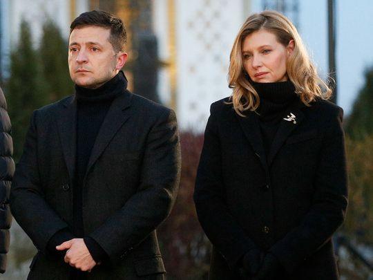 President Volodymyr Zelenskiy and his wife