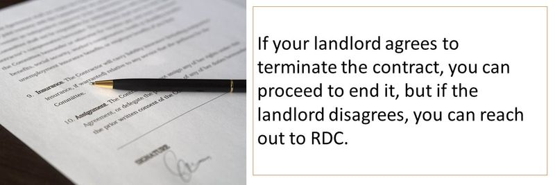 Rent contract can be terminated
