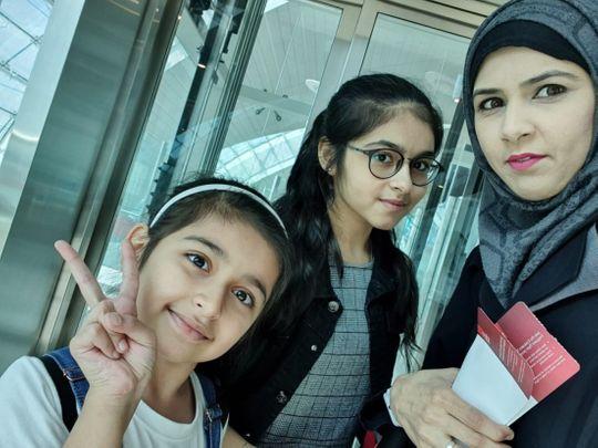 nat 200617 Anta Menon is stuck in INDIA with her daughters Aisha Memon and Atiyah Memon-1592375462685