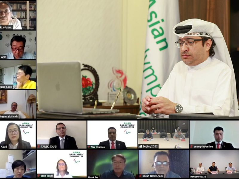 Majid Rashid Al Usaimi, the President of the Asian Paralympic Committee, and members of the APC Executive Board held a series of virtual meetings this week.