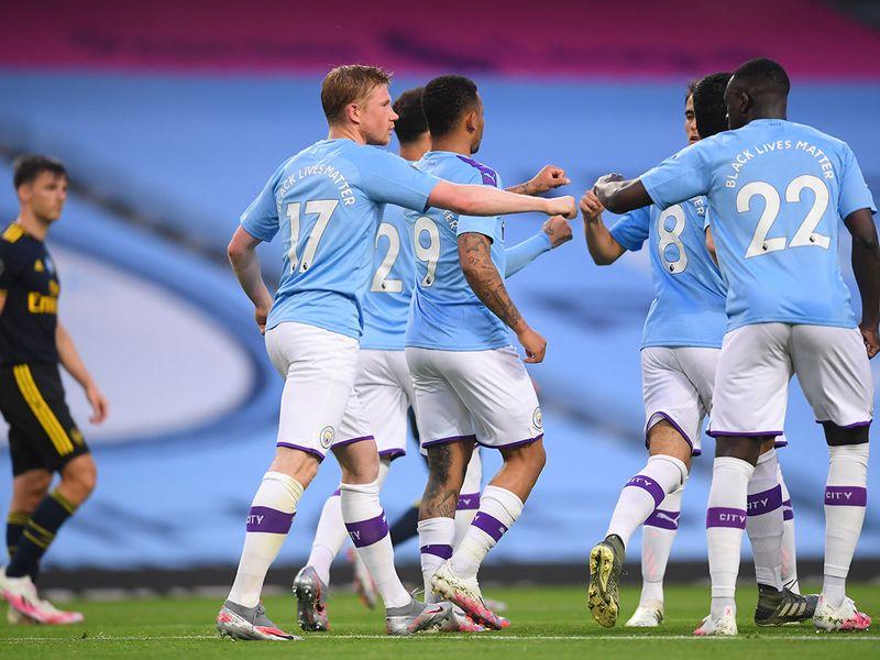 Manchester City v Arsenal as Premier League returns