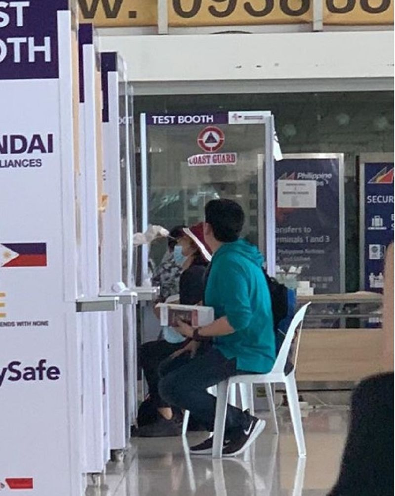 Manila airport Philippine testing booth covid-19