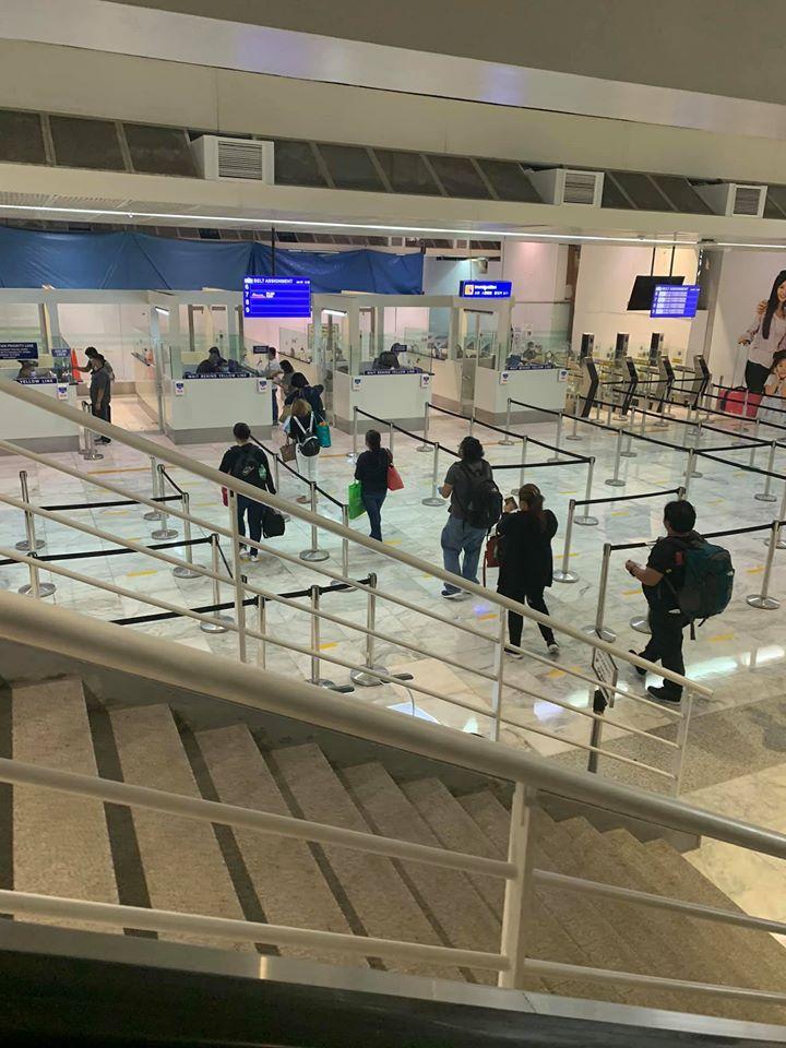 Manila airport arrival