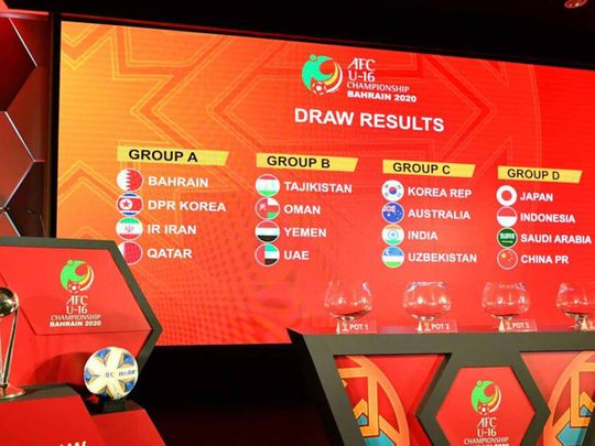 The AFC Under-16 Championship draw