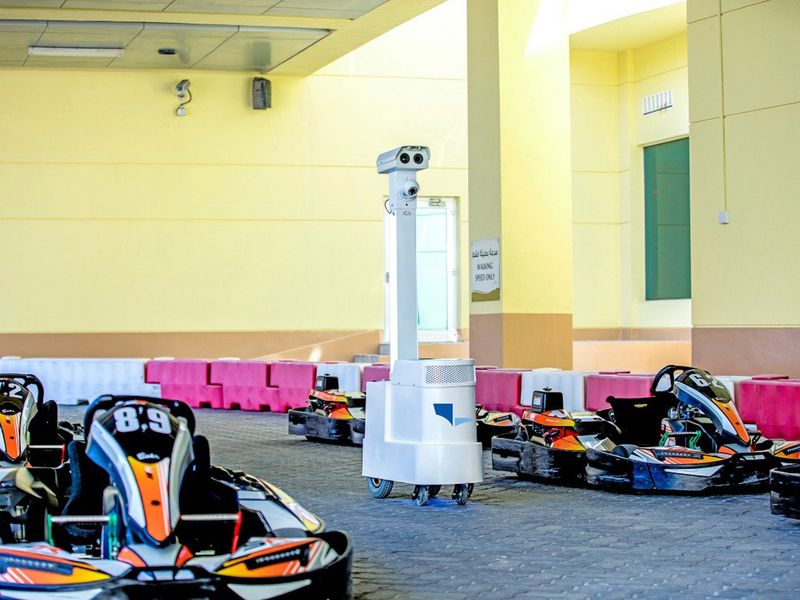 The drive at Al Forsan used the latest sanitizing methodologies including an unmanned self-operating robot (CoDi BOT UGV)