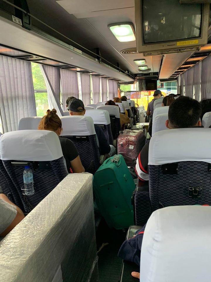 scene inside the bus