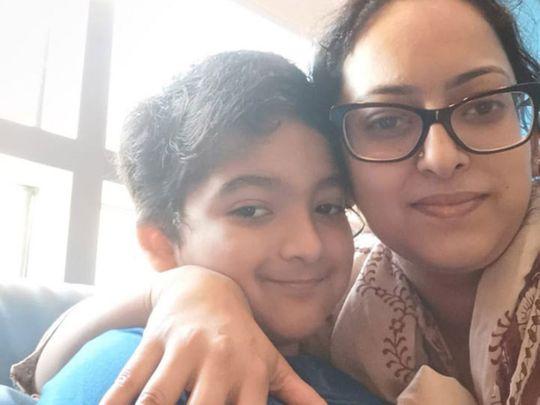 Arim with his mum Samreen