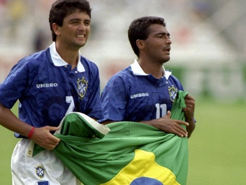 Bebeto and Romario became firm friends during the World Cup in 1994.