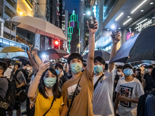 protest in Hong Kong