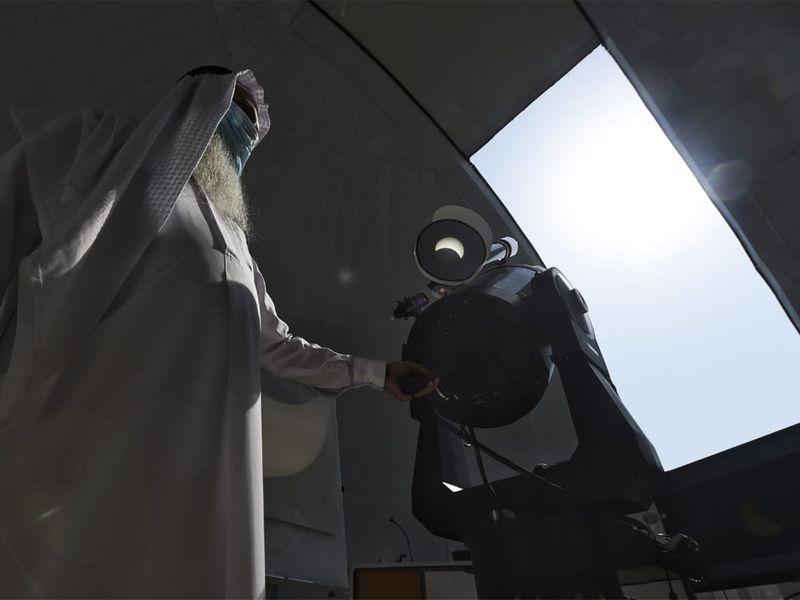 20200621 Dubai eclipse