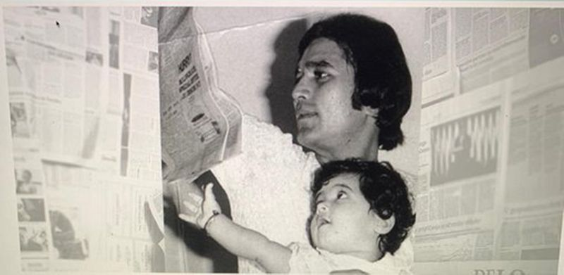 A young Twinkle with Rajesh Khanna