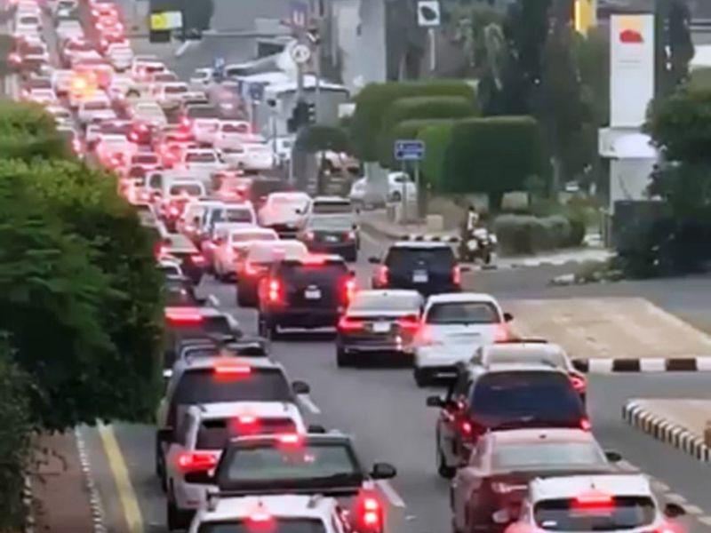 Abha traffic saudi arabia