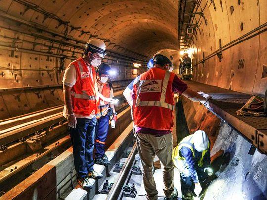 Dubai Metro work