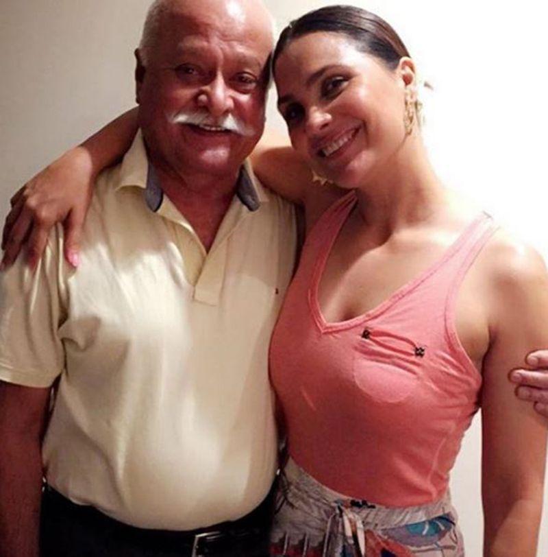 Lara Dutta Bhupati with her father