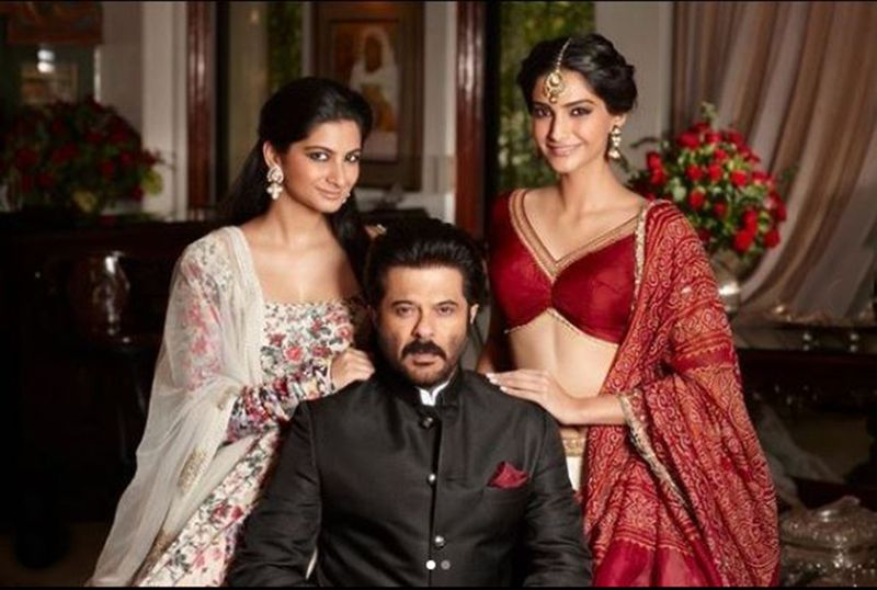 Rhea, Anil and Sonam Kapoor