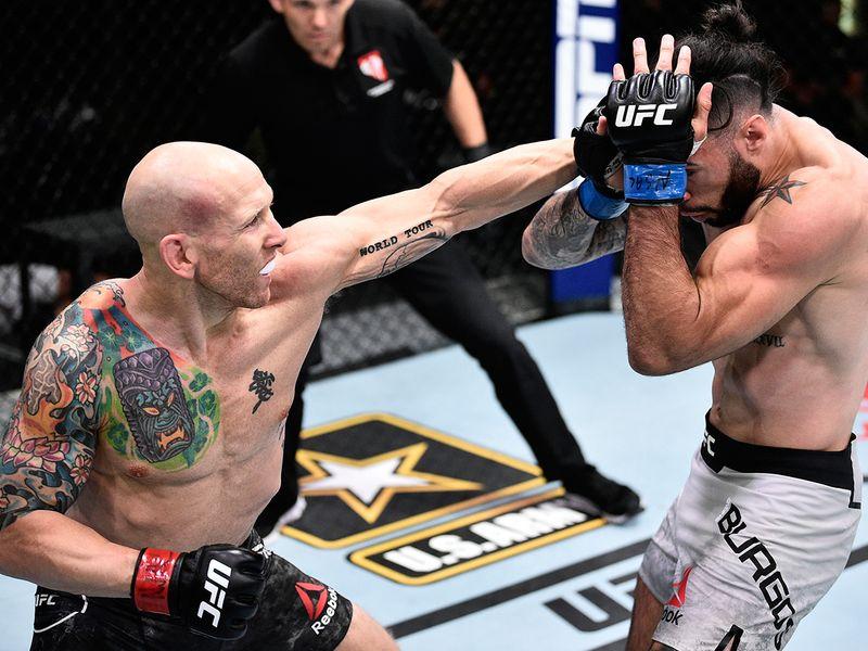 UFC Featherweight Josh Emmett won a unanimous decision over Shane Burgos