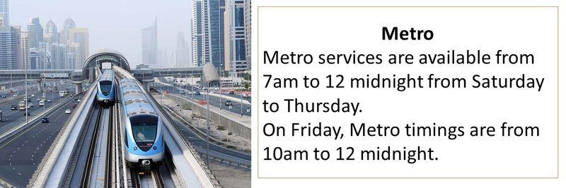 public transport timings