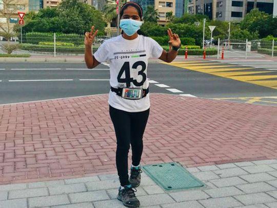 Bangladeshi girl runs marathon in Dubai to raise money for her education