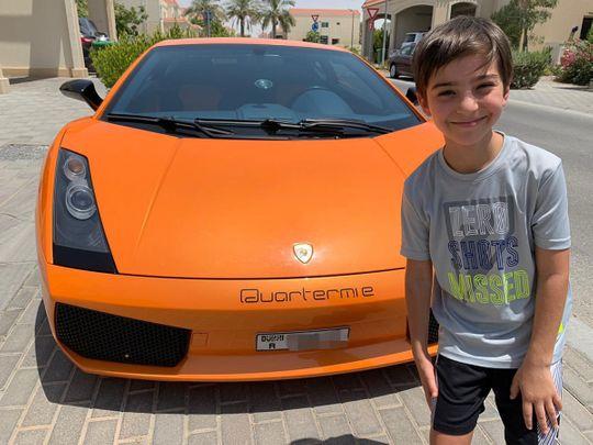 Boy gets ride in a Lamborghini on his birthday