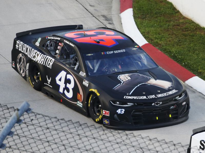 Bubba Wallace's race car.