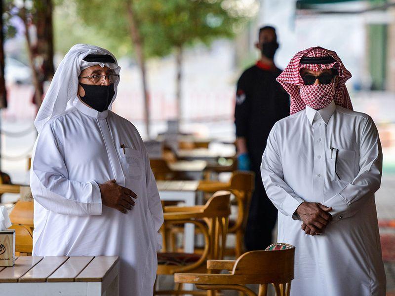 Saudi Arabia masked men