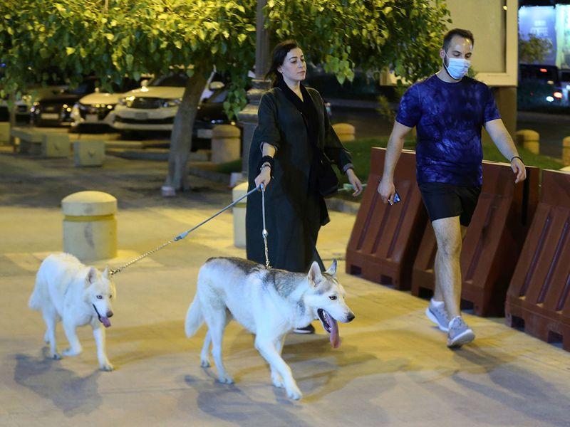 Saudi dog walking